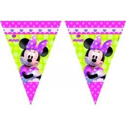BANDERIN TRIANGULAR DE MINNIE