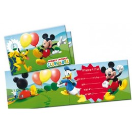 INVITACIONES MICKEY HORIZONTAL
